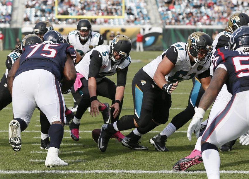 Attractive Oct 18, 2015; Jacksonville, FL, USA; Jacksonville Jaguars Quarterback Blake  Bortles (5) Drops The Snap Inside Of The 5 Yard Line During The Second Half  Of A ...